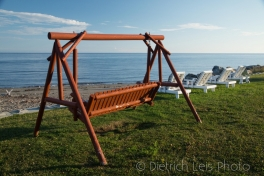 Swing set overlooking the St. Lawrence, Matane, Quebec